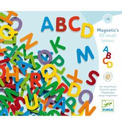 83 kleine magnetische letters