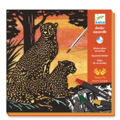 Aquarell Atelier luipaard