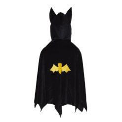 Hooded Bat Cape Black 4-6