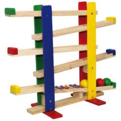 Rits rats baan met ballen en xylofoon