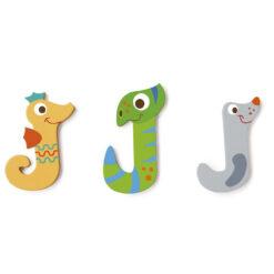 Scratch letter J