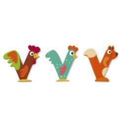 Scratch letter V