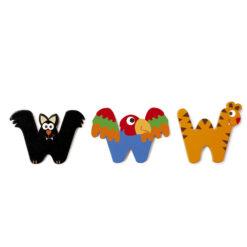 Scratch letter W