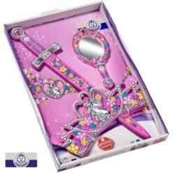 Set Prinses met zwaard - kroon en spiegel