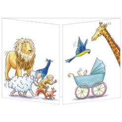 geboorte kaart dieren