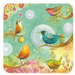 kaart zangvogels