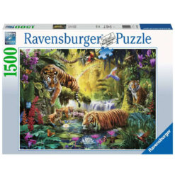 puzzel idyllische tijgers