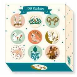 100 stickers op rol