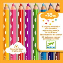 8 kleurpotloden voor peuters