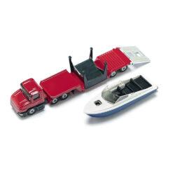 Dieplader met speedboot