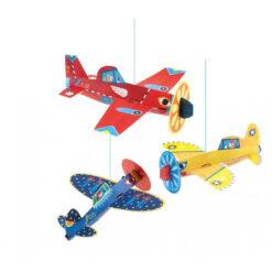 Djeco 3 vliegtuigen hanger