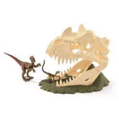 Grote dinosaurus schedel valstrik
