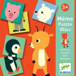 Memo dieren puzzel