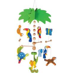 Mobiel Palmboom met wilde dieren