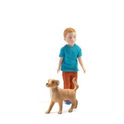 Poppenhuis pop Xavier en zijn hond