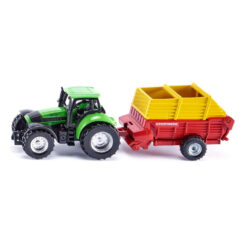 Traktor met Pöttinger laadwagen