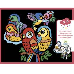fluwelen kleurplaten baby vogels