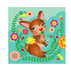 kaart baby konijn