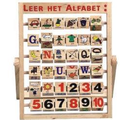 Houten alfabet frame