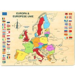 Houten puzzel van Europa