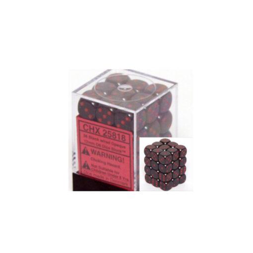 dobbelsteen zwart - rood