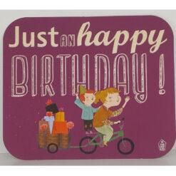 kaart just an happy birthday
