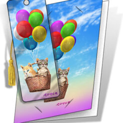 kaart met boekenlegger luchtballon