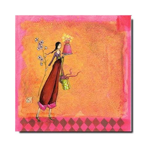 kaart vrouw met taart