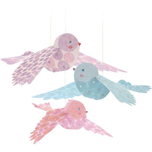 papieren glitter vogels