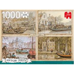 Anton Pieck canal boats puzzel 1000 pcs