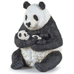 Zittende Panda met Jong
