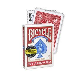 Bicycle kaart magic card rood short