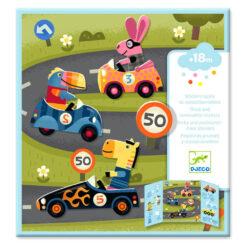 Djeco stickerboek verkeer