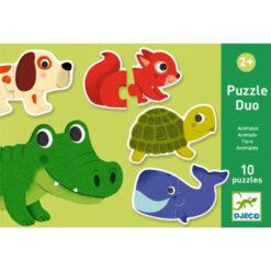 Duo puzzel dieren