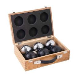 jeu de boules 6 ballen in luxe kist