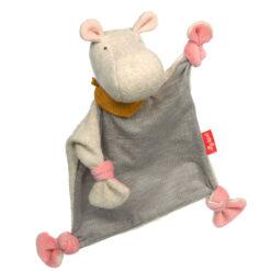knuffel doekje roze Nijlpaard